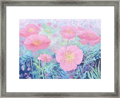 Poppy Garden Framed Print by Jan Matson