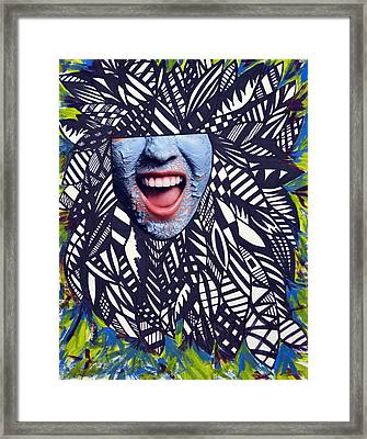 Porcelain Scream  Framed Print by Leah Chyma