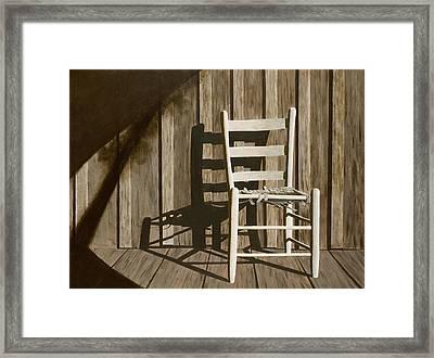 Porch Chair Framed Print
