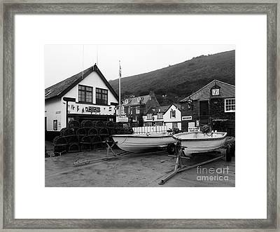 Port Isaac Cornwall Framed Print by Louise Heusinkveld