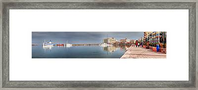 Port Of Chios Framed Print by Emmanouil Klimis