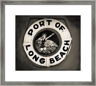 Port Of Long Beach Life Saver Vin By Denise Dube Framed Print