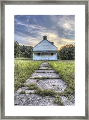 Port Oneida Schoolhouse Framed Print