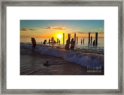 Port Willunga Jetty Ruins Framed Print by Bill  Robinson