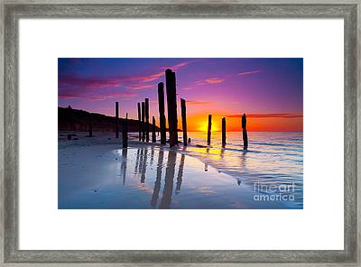 Port Willunga Sunset Framed Print by Bill  Robinson