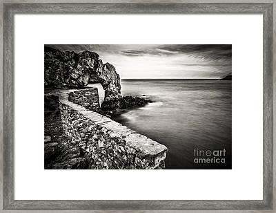 Porth Wen Arch Framed Print