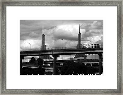 Portland Bridge Framed Print