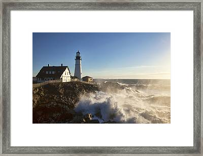 Portland Head Light Framed Print by Eric Gendron