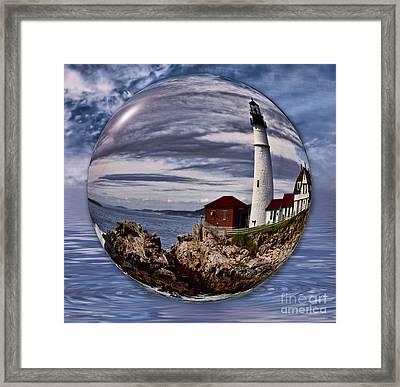 Portland Head Framed Print by Shirley Mangini