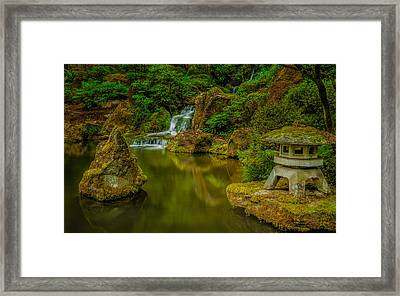 Framed Print featuring the photograph Portland Japanese Gardens by Jacqui Boonstra