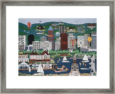 Portland Waterfront Framed Print