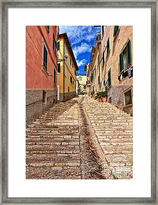 Portoferraio - Isle Of Elba Framed Print by Antonio Scarpi