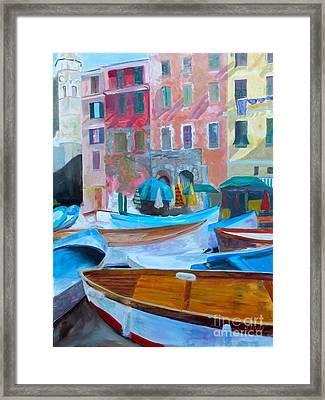 Portofino Framed Print by Barbara Lynn Dunn