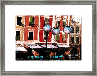 Portofino Cafe Framed Print