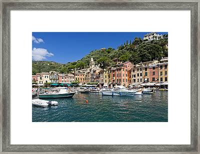 Portofino Harbour Framed Print
