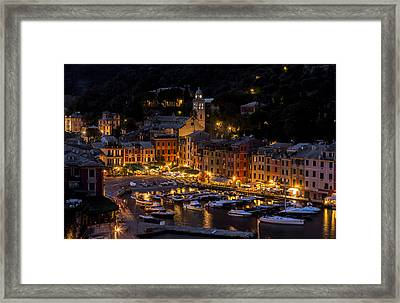 Portofino Italy - Hi Res Framed Print by Carl Amoth