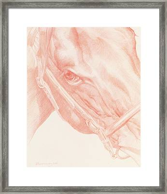 Portrait Head Framed Print