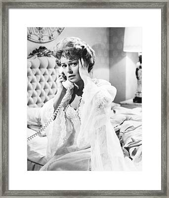 Portrait In Black, Lana Turner, 1960 Framed Print