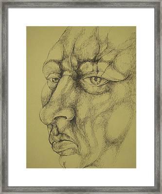 Portrait Framed Print by Moshfegh Rakhsha