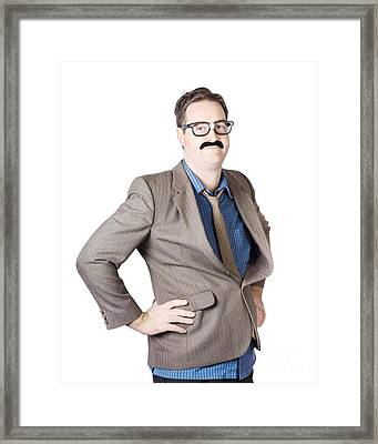 Portrait Of A Businessman Framed Print