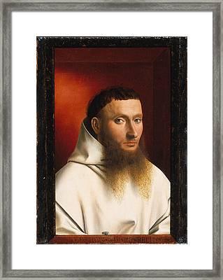 Portrait Of A Carthusian Framed Print