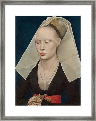 Portrait Of A Lady Framed Print by Rogier van der Weyden