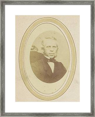 Portrait Of A Man With Sideburns, Anonymous Framed Print by Artokoloro