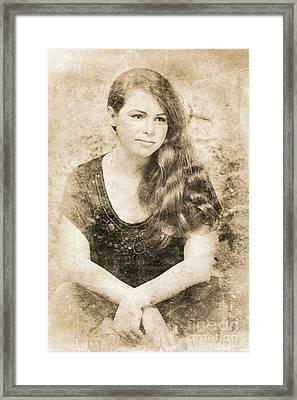 Portrait Of A Vintage Lady Framed Print