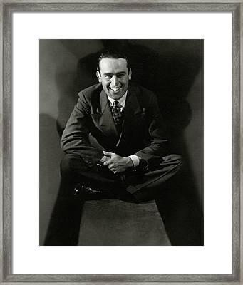 Portrait Of Actor Harold Lloyd Framed Print by Edward Steichen