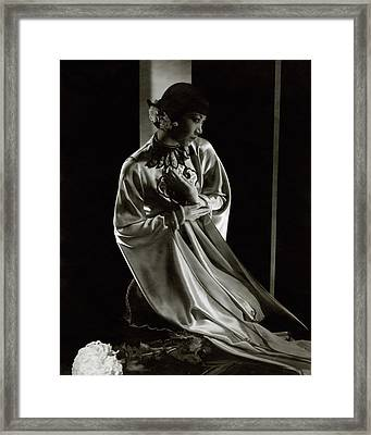 Portrait Of Anna May Wong Framed Print