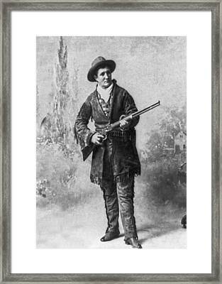 Portrait Of Calamity Jane Framed Print