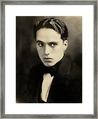 Portrait Of Charlie Chaplin Framed Print by American Photographer