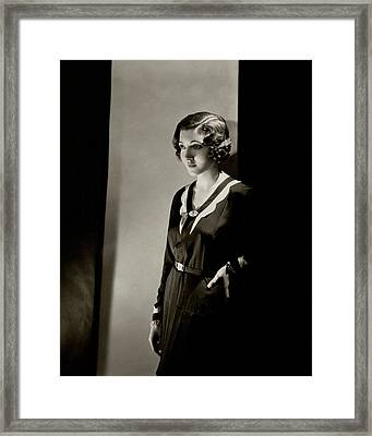 Portrait Of Claudette Colbert Framed Print