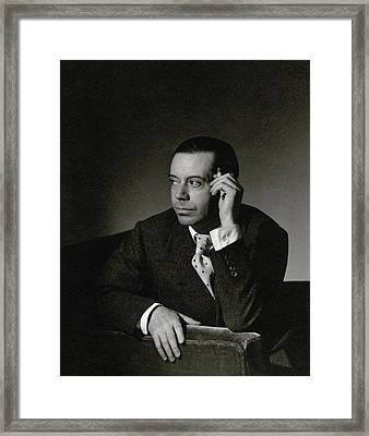 Portrait Of Cole Porter Framed Print