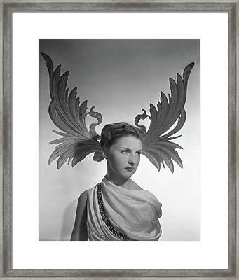 Portrait Of Cynthia Boissevain Framed Print by Horst P. Horst