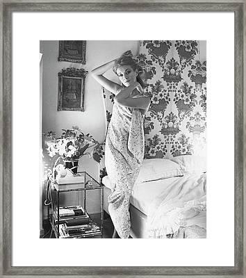 Portrait Of Daniela Bianchi Framed Print