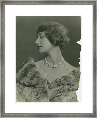 Portrait Of Elsie Ferguson Framed Print by Nicholas Muray