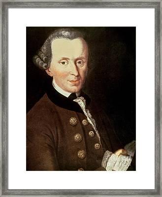 Portrait Of Emmanuel Kant Framed Print by German School
