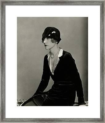 Portrait Of Helen Menken Framed Print