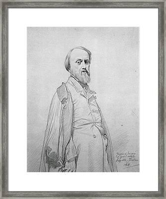 Portrait Of Hippolyte Flandrin Framed Print