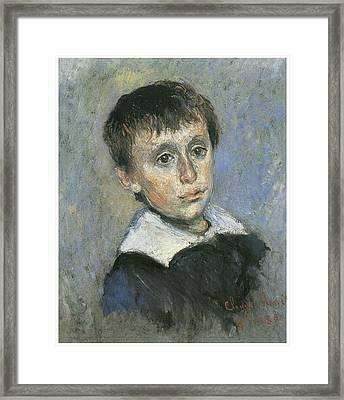 Portrait Of Jean Monet Framed Print by Claude Monet