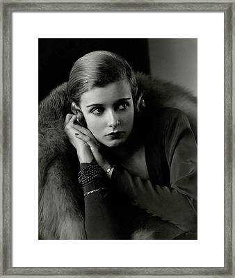 Portrait Of Joan Bennett Framed Print by Edward Steichen
