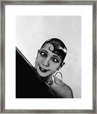 Portrait Of Josephine Baker Framed Print