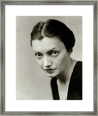 Portrait Of Katharine Cornell Framed Print by Florence Vandamm
