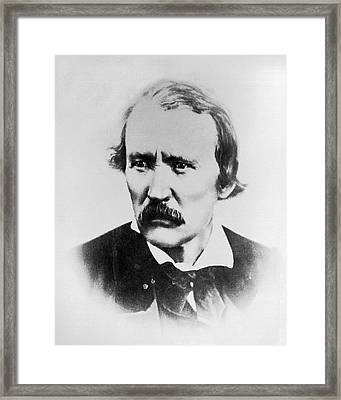 Portrait Of Kit Carson Framed Print