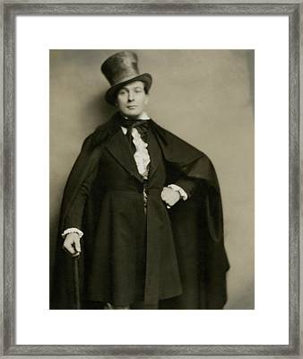 Portrait Of Lionel Atwill In Costume Framed Print by Nicholas Muray