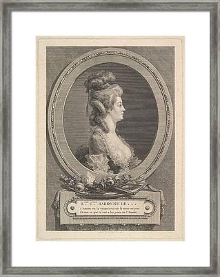 Portrait Of Louise �milie Baronne De *** Framed Print