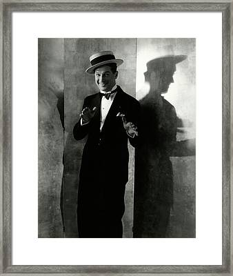 Portrait Of Maurice Chevalier Framed Print by Edward Steichen