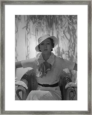 Portrait Of Mlle. Koopman Framed Print by George Hoyningen-Huene