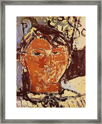 Portrait Of Picasso Framed Print by Pg Reproductions